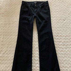 LOFT modern flare black jeans